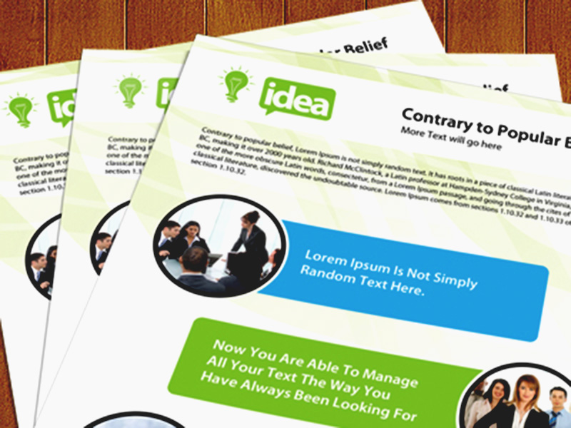 best free corporate single side brochure psd template