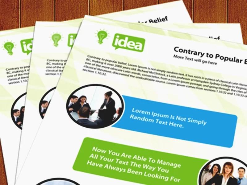 best free corporate single side brochure psd template