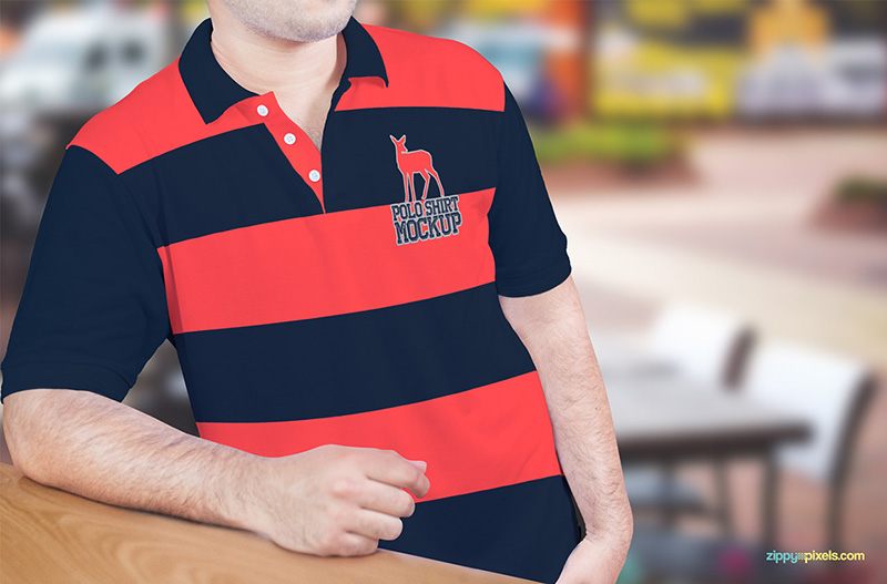 best free polo shirt mockup psd