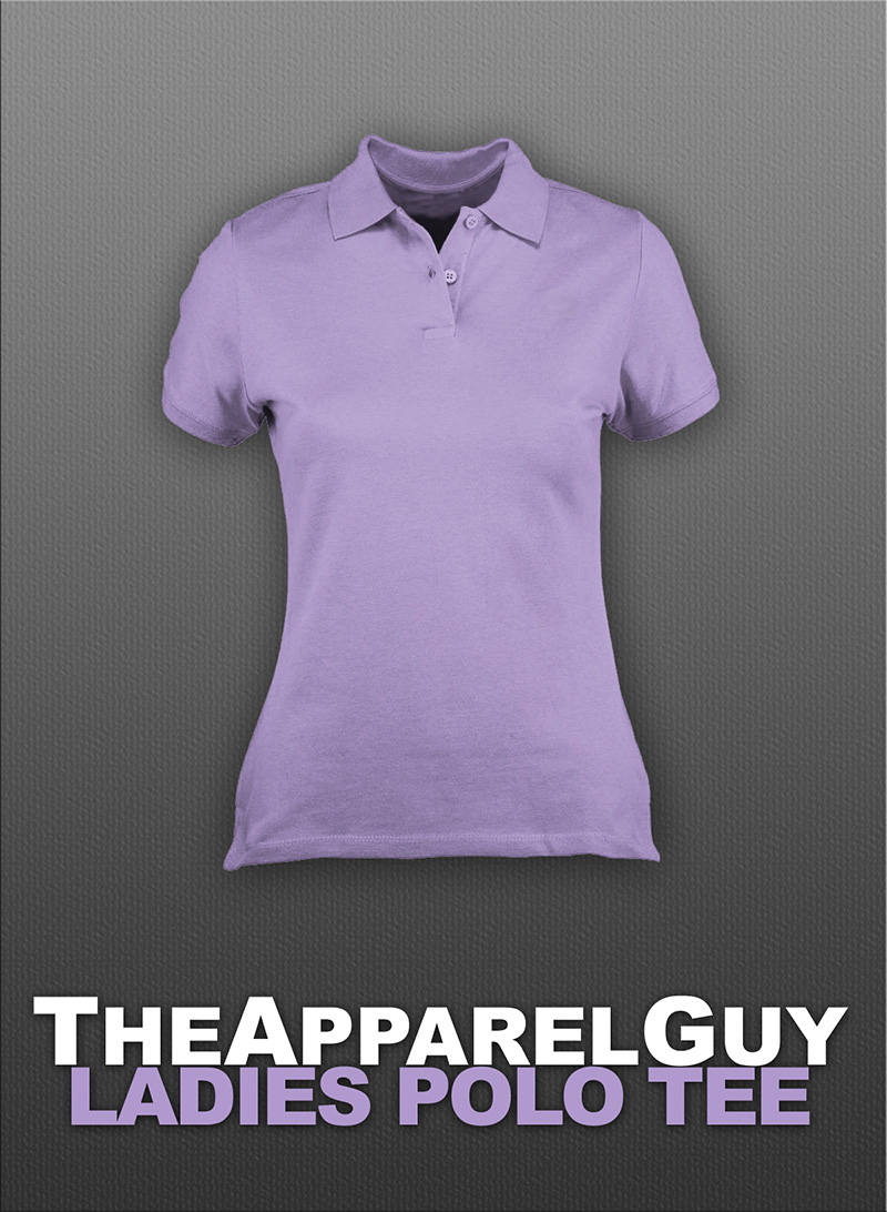 unique free ladies polo shirt mockup psd template