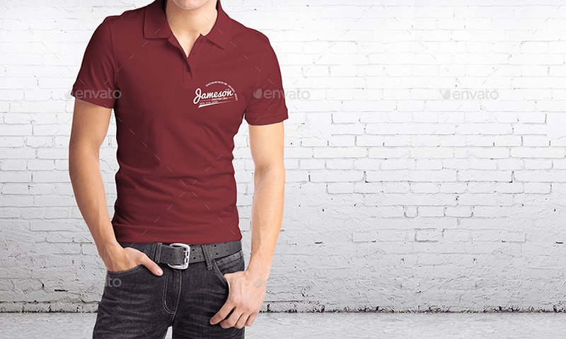 awesome man polo shirt mockup premium template
