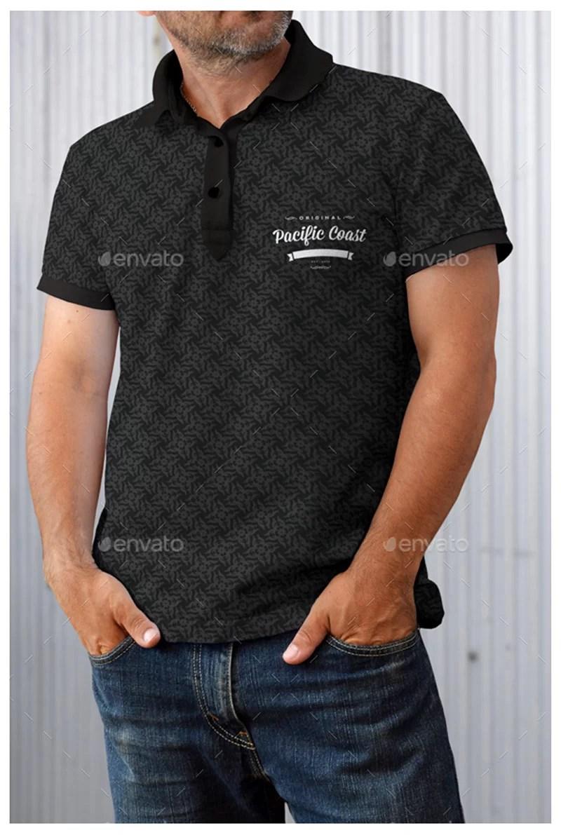 wonderful man polo shirt mockup premium psd