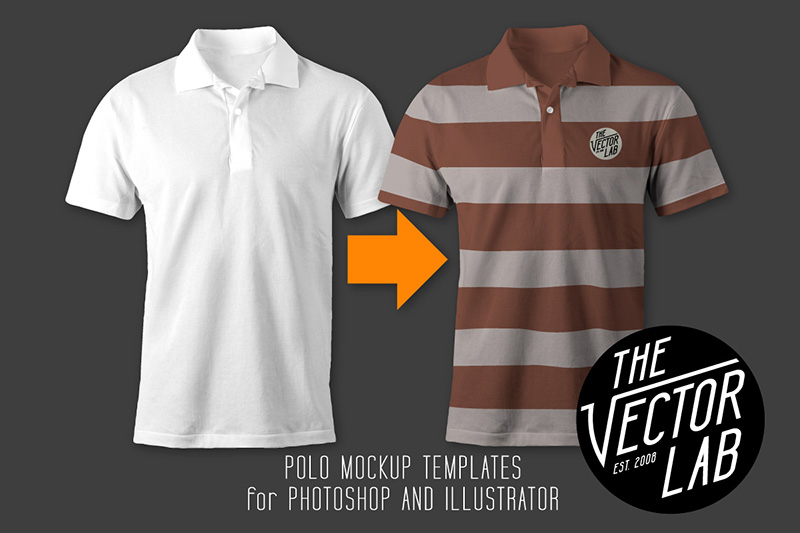 best mens polo t-shirt psd mockup