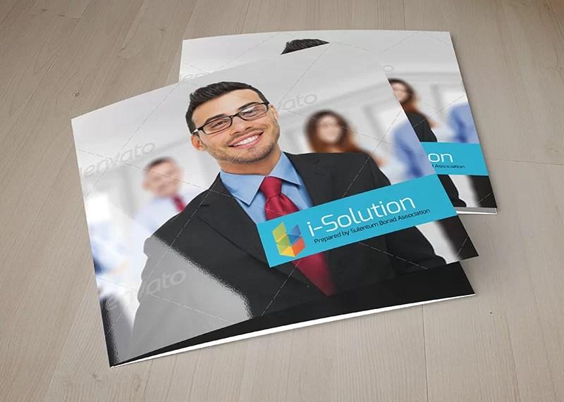 best premium business brochure mockup square psd