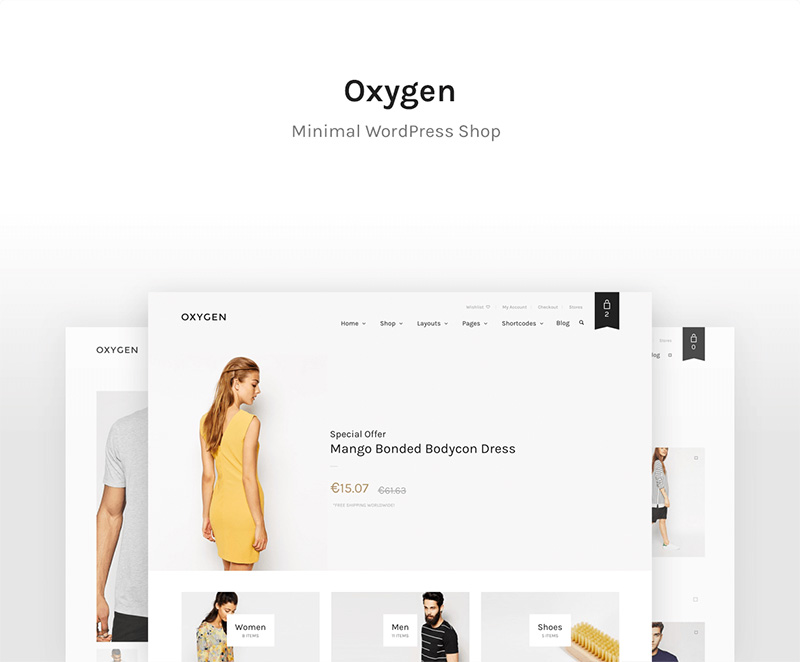 beautiful premium wordpress eCommerce theme