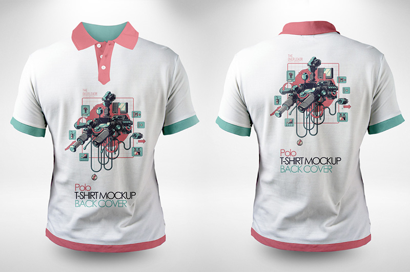 wonderful polo t-shirt psd mockup