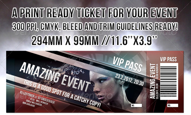 best premium party ticket mockup psd