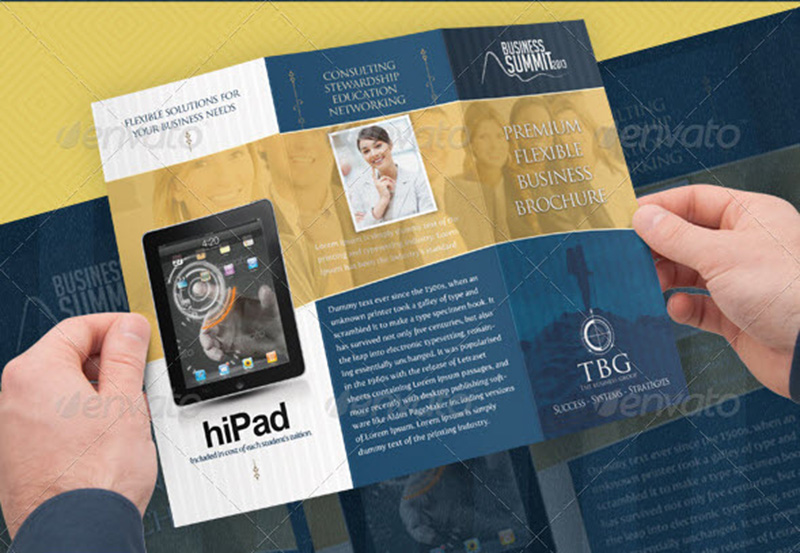 pro business corporate trifold brochure design psd