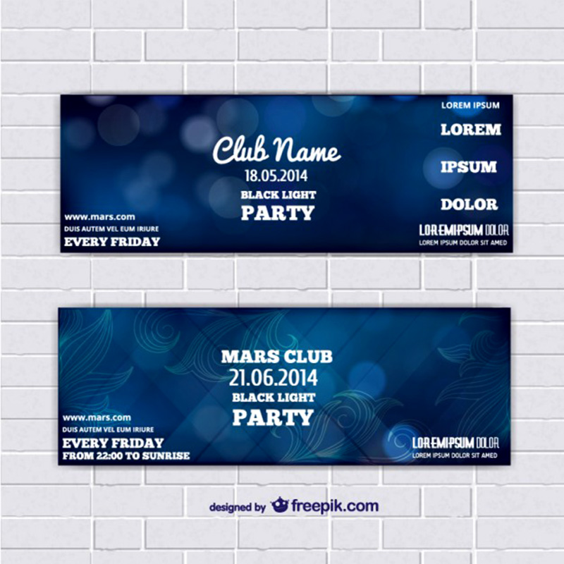 Unique Event Ticket Free Psd Template  Event Ticket Template Free