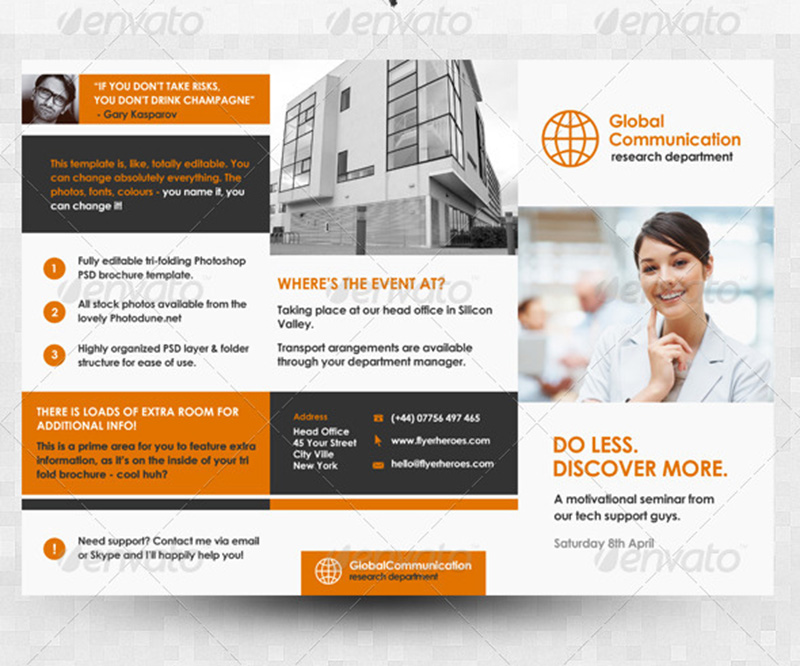 best business corporate brochure psd mockup