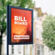 free outdoor advertising billboard mockups psd