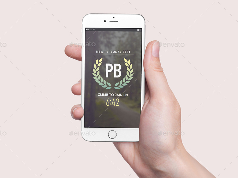 hand hold best premium iphone 6 mockup psd
