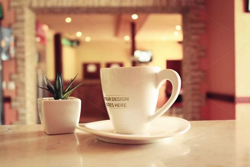 latest premium coffee cup mockup
