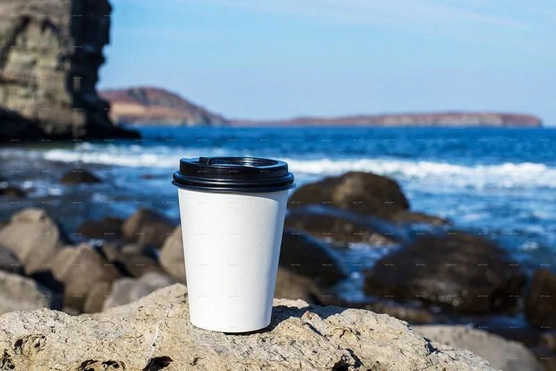 unique premium coffee cup mockup psd