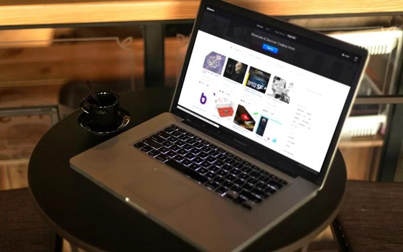 latest MacBook Pro Mockup template in PSD