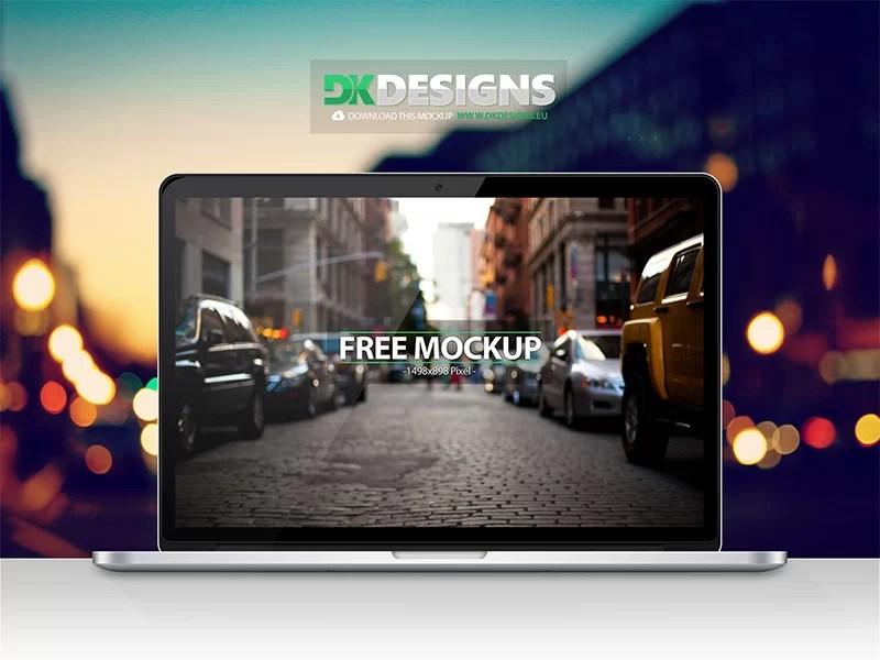 unique MacBook Pro Mockup template in PSD