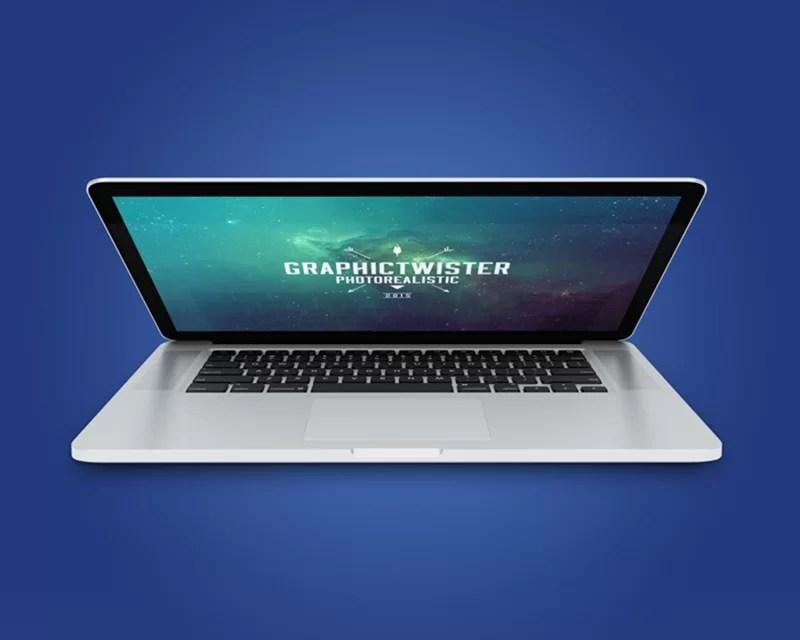 modern MacBook Pro Mockup template in PSD