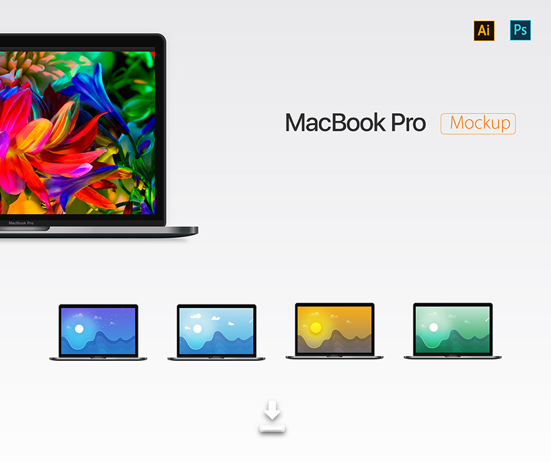 realistic MacBook Pro Mockup free download