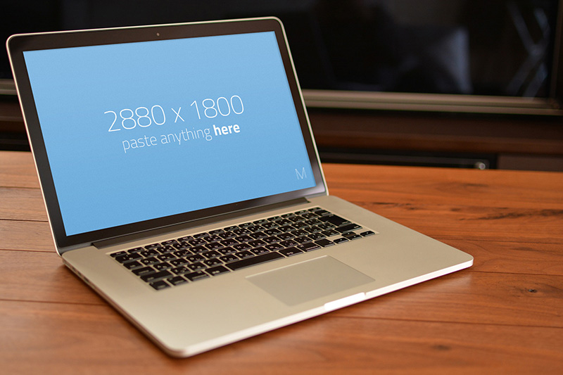 greatest MacBook Pro Mockup template in PSD