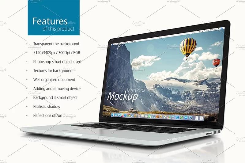 apple macbook pro retina psd template