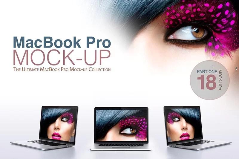 macbook pro laptop template