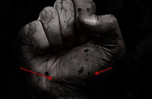 5 pintura 2 500x326 Crie um braço preso com Efeito mancha de sangue no Photoshop