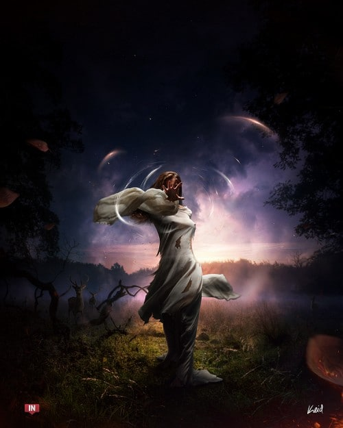 Intervention by keid 500x625 19 Highly Creative Photo Manipulation Featuring Human and Nature