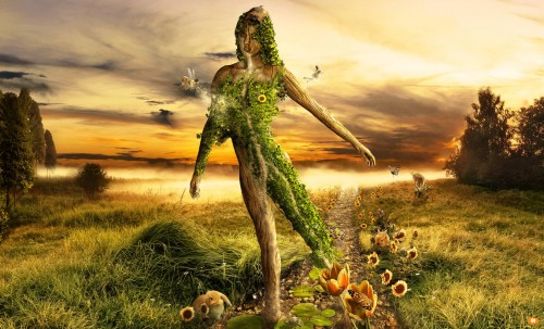 Mother Nature by FatherofGod 500x303 19 Highly Creative Photo Manipulation Featuring Human and Nature