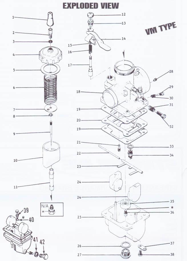 Mikuni Vm34 Carburetor Diagram, Mikuni, Free Engine Image