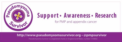 Pseudomyxoma Survivor car sticker image