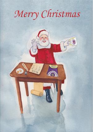Picture of Pseudomyxoma Survivor's On Santa's Nice List Christmas Card