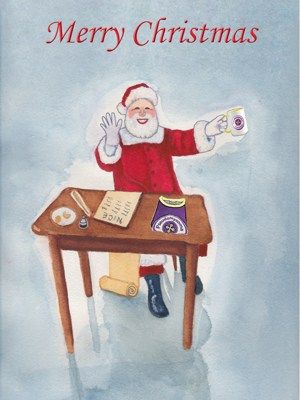 Picture of Pseudomyxoma Survivor's On Santa's Nice List Christmas Card