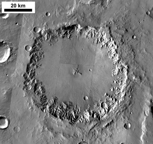 Ostrov Crater, Mars