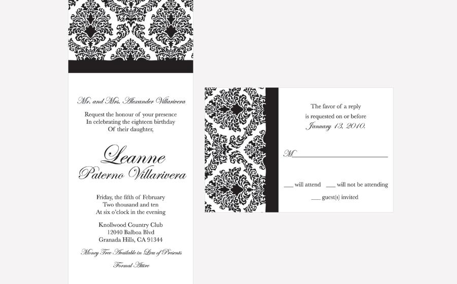 invitations and progams : psilao