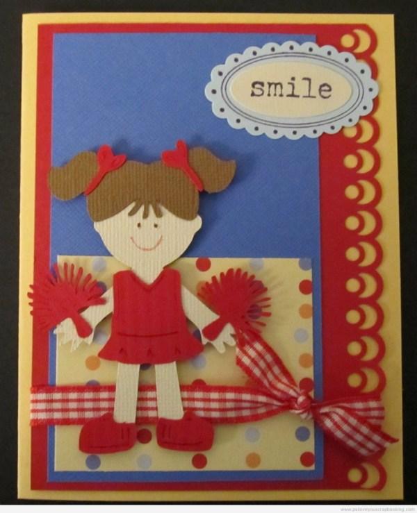 Cheerleader Cricut Card Everyday Paper Dolls Cartridge - . Love Crafts