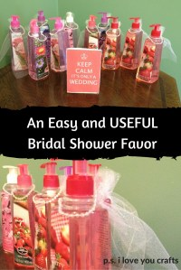 Easy DIY Bridal Shower Favors - P.S. I Love You Crafts