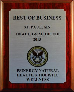 SchaOn Blodgett of Psinergy Natural Health & Holistic Wellness has been selected for the Best of Business Award by the Small Business Community