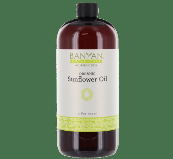 Sunflower Oil (Organic) 34 oz - Banyan Botanicals