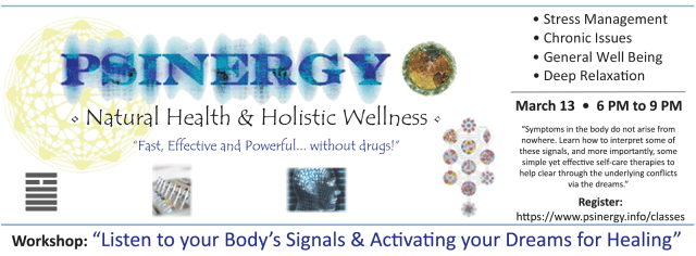 """Workshop: """"Listen to your Body's Signals & Activating your Dreams for Healing"""" 1"""