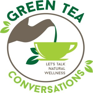 Green Tea Conversations logo, Let's Talk Natural Wellness