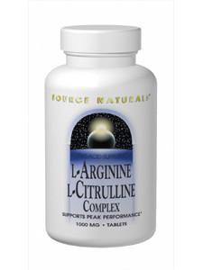 L-Arginine L-Citrulline Complex 120tabs by Source Naturals