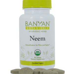 Neem 500 mg, 90 tabs by Banyan Botanicals