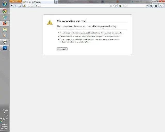 Facebook down?