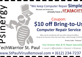 $10 off Bring-to-Us Computer Repair Service