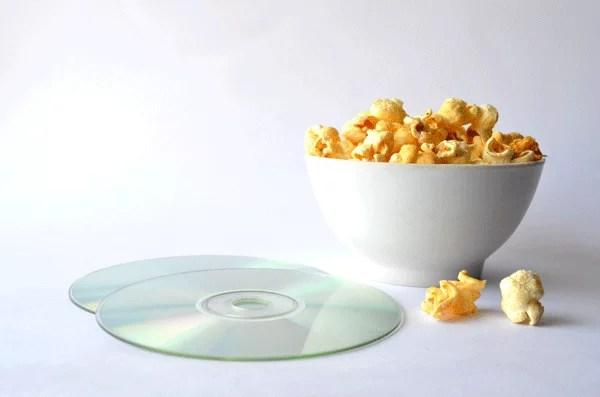 Computer discs and Popcorn