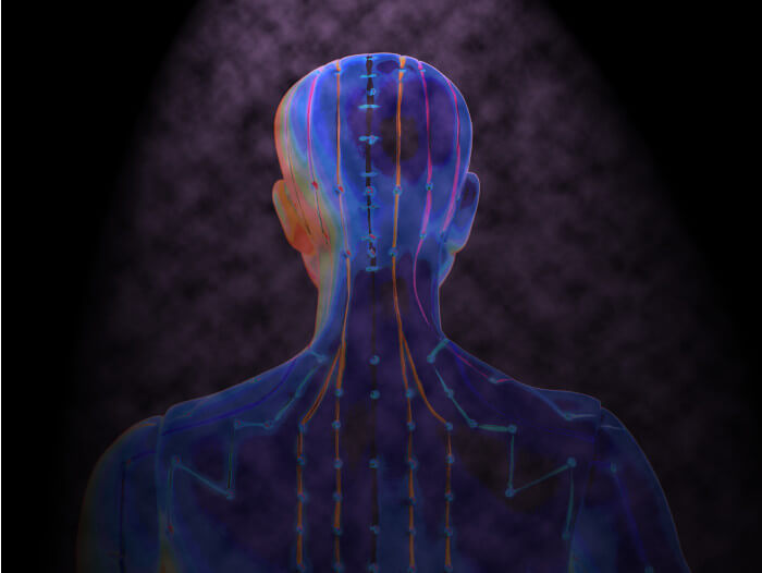 ilustracao sobre acupuntura e transtornos psiquiátricos