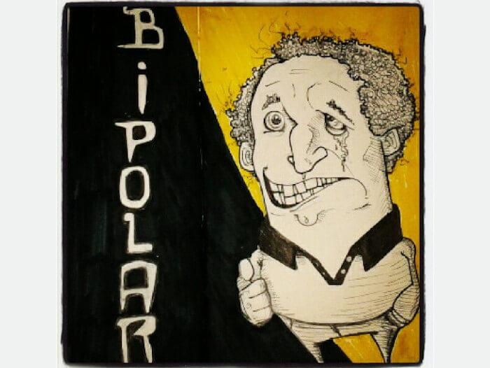 transtorno do humor bipolar ilustração