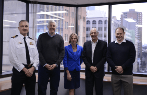 Sydney –Commodore Lee Goddard, Cameron Clyne, Michelle Ockers, Nigel Paine, Trent Rosen