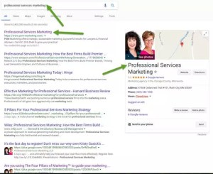 Google Review or Professional Services marketing