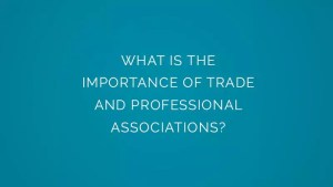 What is the importance of trade and professional associations?